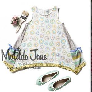 Matilda Jane Girls Pinwheel Trapeze Top NWT